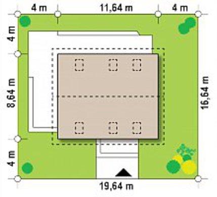 Проект коттеджа с мансардой площадью 151 кв.м.