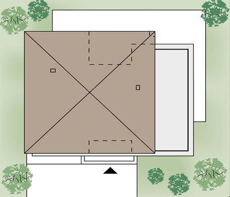 Роскошный двухэтажный особняк темного цвета