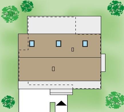 Одноэтажный жилой дом, декорированный деревом