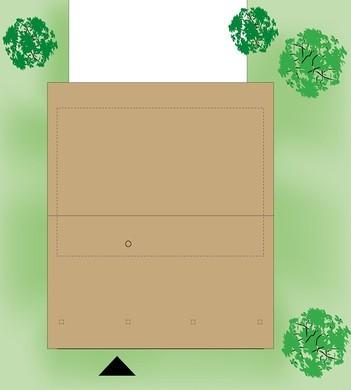 Небольшой загородный дом с тремя спальнями