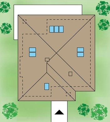 Одноэтажный современный дом с тремя спальнями