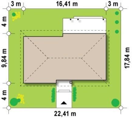 Проект одноэтажного дома в традиционном стиле