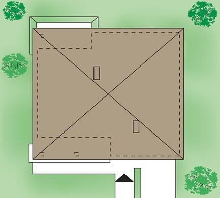 Красивый небольшой коттедж с тремя спальнями и гаражом