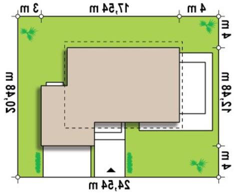 Проект коттеджа с мансардой, гостиной и гаражом на две машины