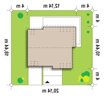 Проект дома простой формы с двускатной крышей