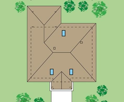Изящный особняк с колоннами