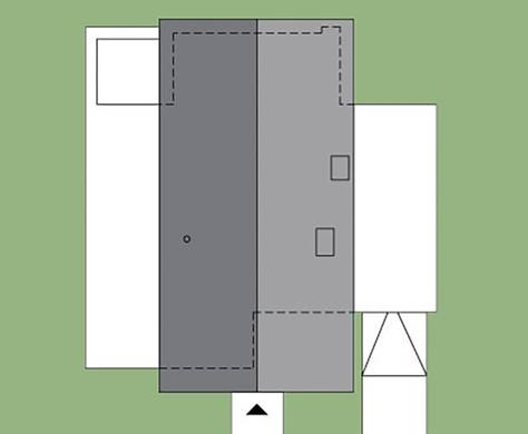 Шикарный модный дом в два этажа