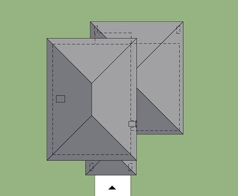 Проект загородного дома с просторной террасой на втором этажеv
