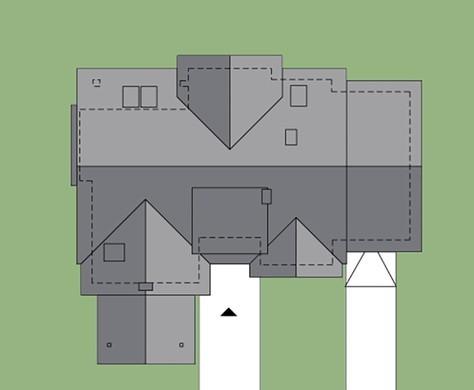 Проект оригинального дома на два этажа