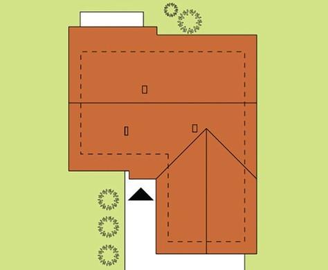 План красивого коттеджа Г-образной формы на 120 кв. м площади