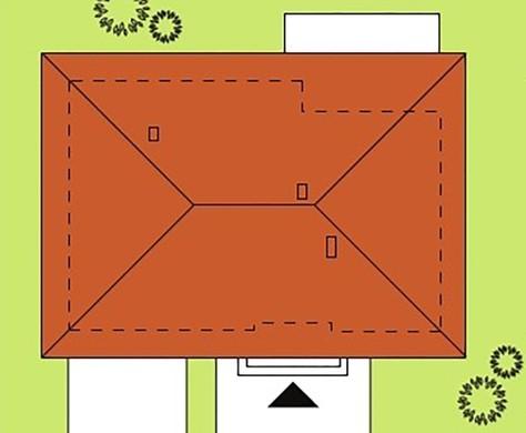 Оригинальный план одноэтажного коттеджа на 100 квадратов с гаражом