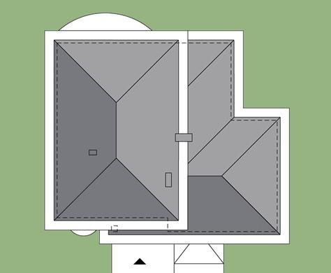 Проект двухэтажного коттеджа с просторным гаражом на две машины