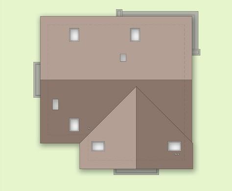 Схема красивого двухэтажного жилья с двумя классическими балконами