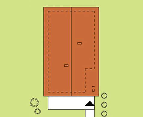 Схема яркого жилого дома на 3 спальни