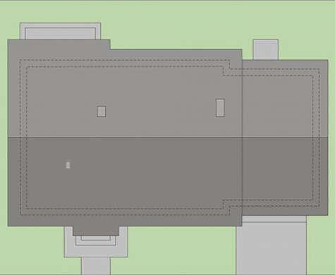 Проект европейского дома с французскими балконами