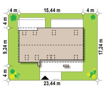Проект дома на две семьи с общим входом
