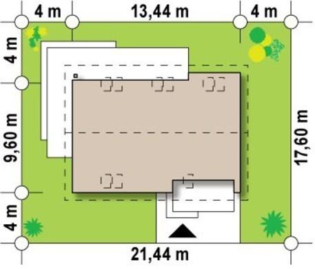Проект классического коттеджа с гаражом, дополнительной спальней