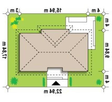 Проект классического одноэтажного коттеджа