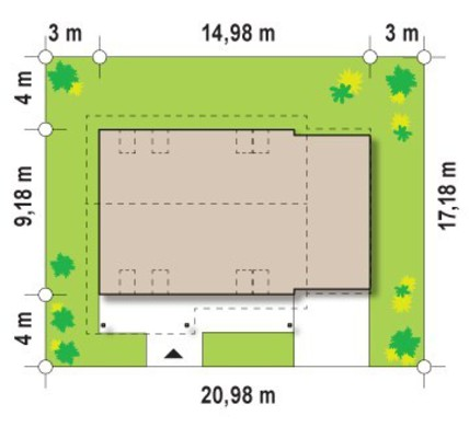 Проект яркого коттеджа с большой террасой на втором этаже