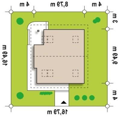 Проект двухэтажного коттеджа с панорамным остеклением