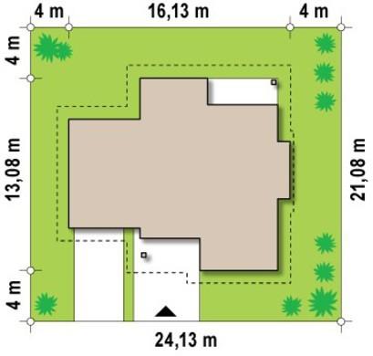 Проект просторного коттеджа сложной формы