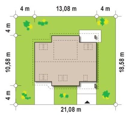 Коттедж с мансардой и дополнительной спальней на первом этаже