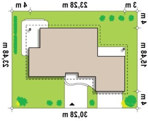 Проект просторного одноэтажного коттеджа с гаражом для двух машин