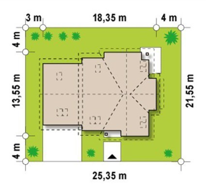 Проект коттеджа с дополнительной гостиной на 2 этаже