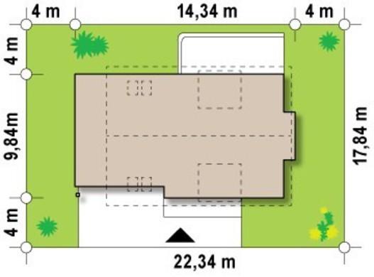 Проект светлого уютного дома с мансардой и гаражом для 2х автомобилей