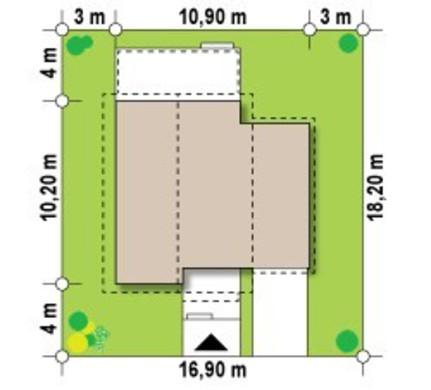Проект 2х этажного классического просторного коттеджа с мансардой и гаражом