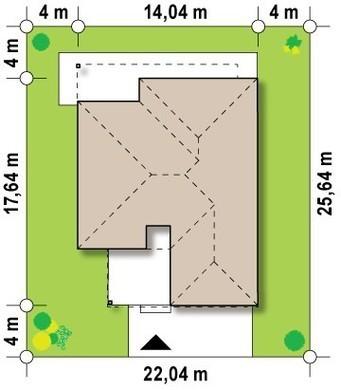 Проект дома хай-тек с гаражом на две машины