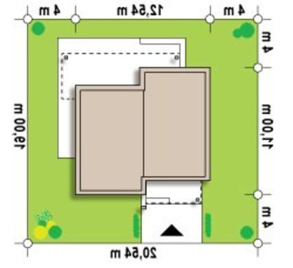 Проект современного одноэтажного коттеджа