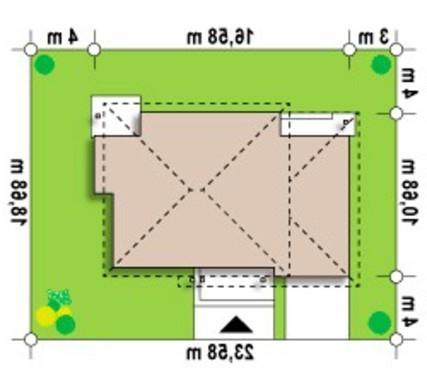 Проект большого двухэтажного коттеджа с гаражом и четырехскатной крышей