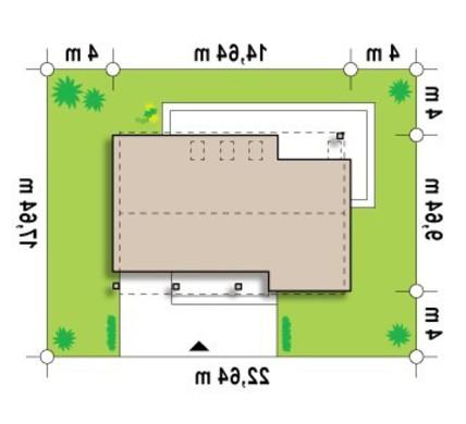 Проект дома с оригинальной крышей