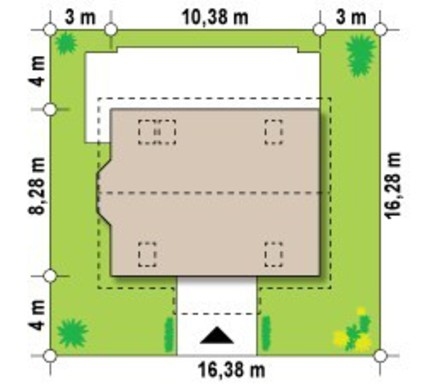 Мансардный дом площадью 140 m²