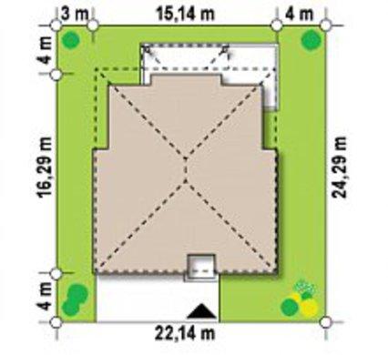 Проект виллы с бильярдной комнатой и сауной
