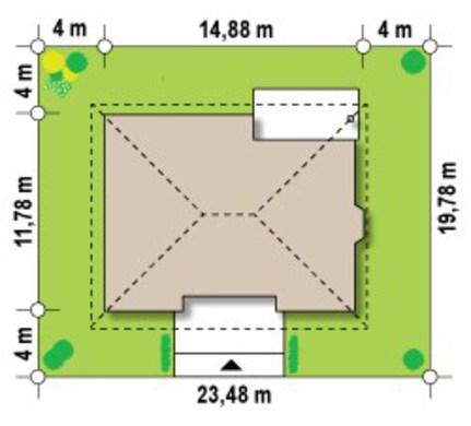 Проект популярного одноэтажного дома 4M011 в каркасном исполнении