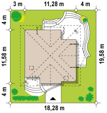 Вариант классического дома с мансардой 4M122 в каркасе