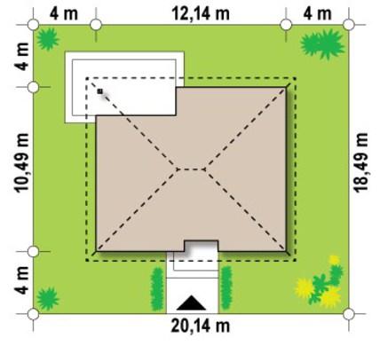 Проект коттеджа по типу 4M314 с жилой мансардой