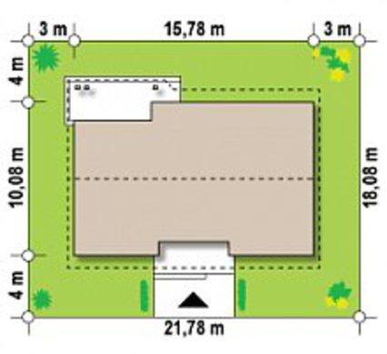 Проект дома с просторной мансардой и гаражом