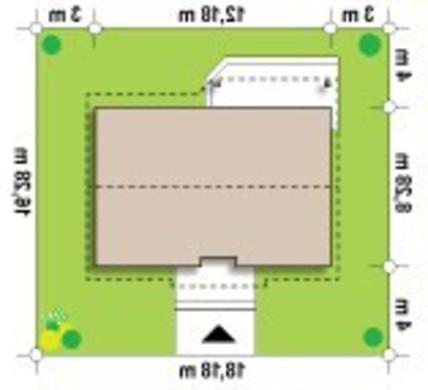 Проект коттеджа с двускатной крышей
