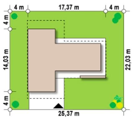 Современный особняк T - образной формы