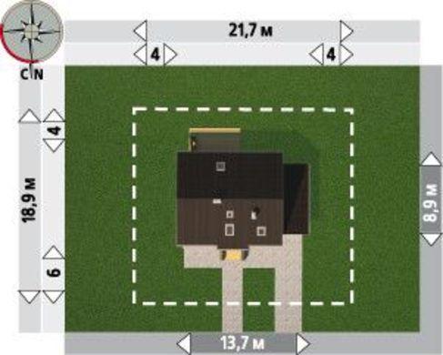 Проект оригинального коттеджа с двумя этажами