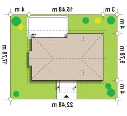Проект традиционного одноэтажного дома