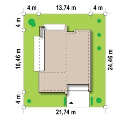 Современный одноэтажный коттедж с модным интерьером