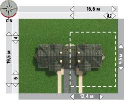 Архитектурный проект замечательного дома-таунхауса с площадью 150 m²