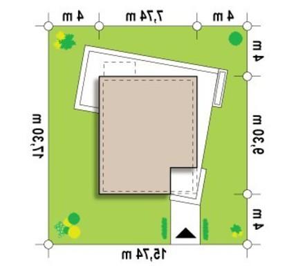 Проект небольшого дома с тремя уютными спальнями