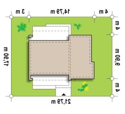 Проект одноэтажного дома в стиле бунгало