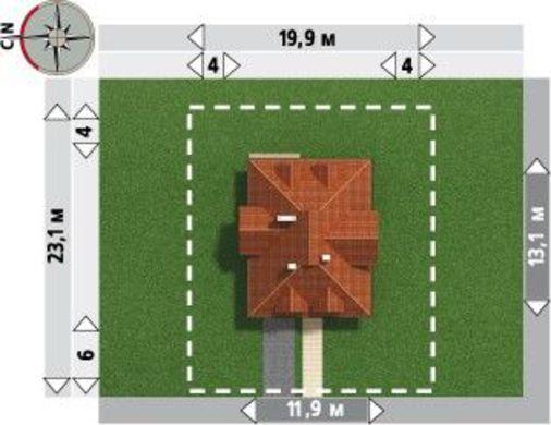 Примечательный проект коттеджа более 200 m²