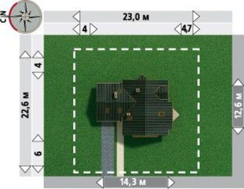 Интересный проект усадьбы с площадью 200 m²